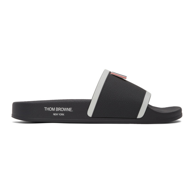 Photo: Thom Browne Grey Rubber Pool Slides