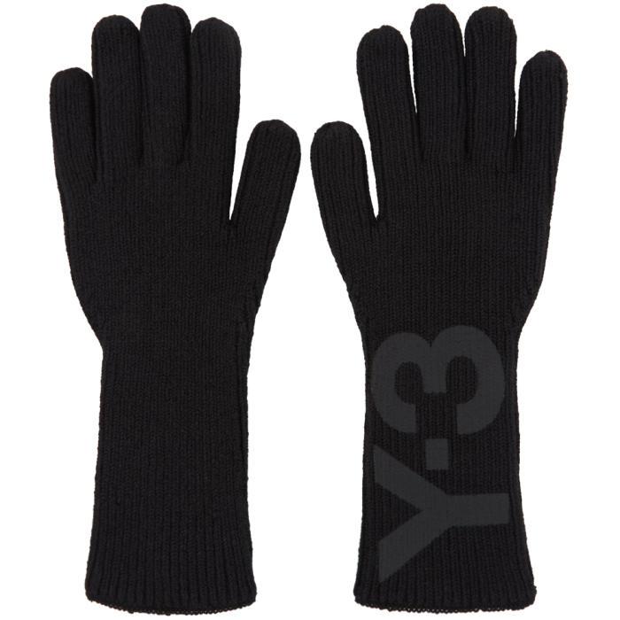 Photo: Y-3 Black Logo Gloves