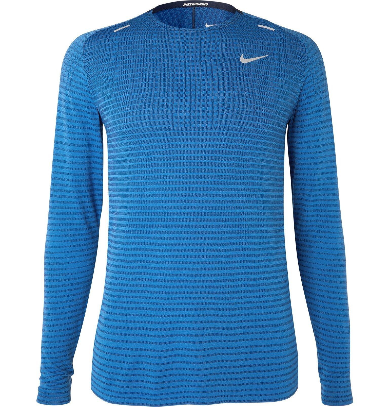 Nike Running - Ultra Slim-Fit TechKnit T-Shirt - Blue