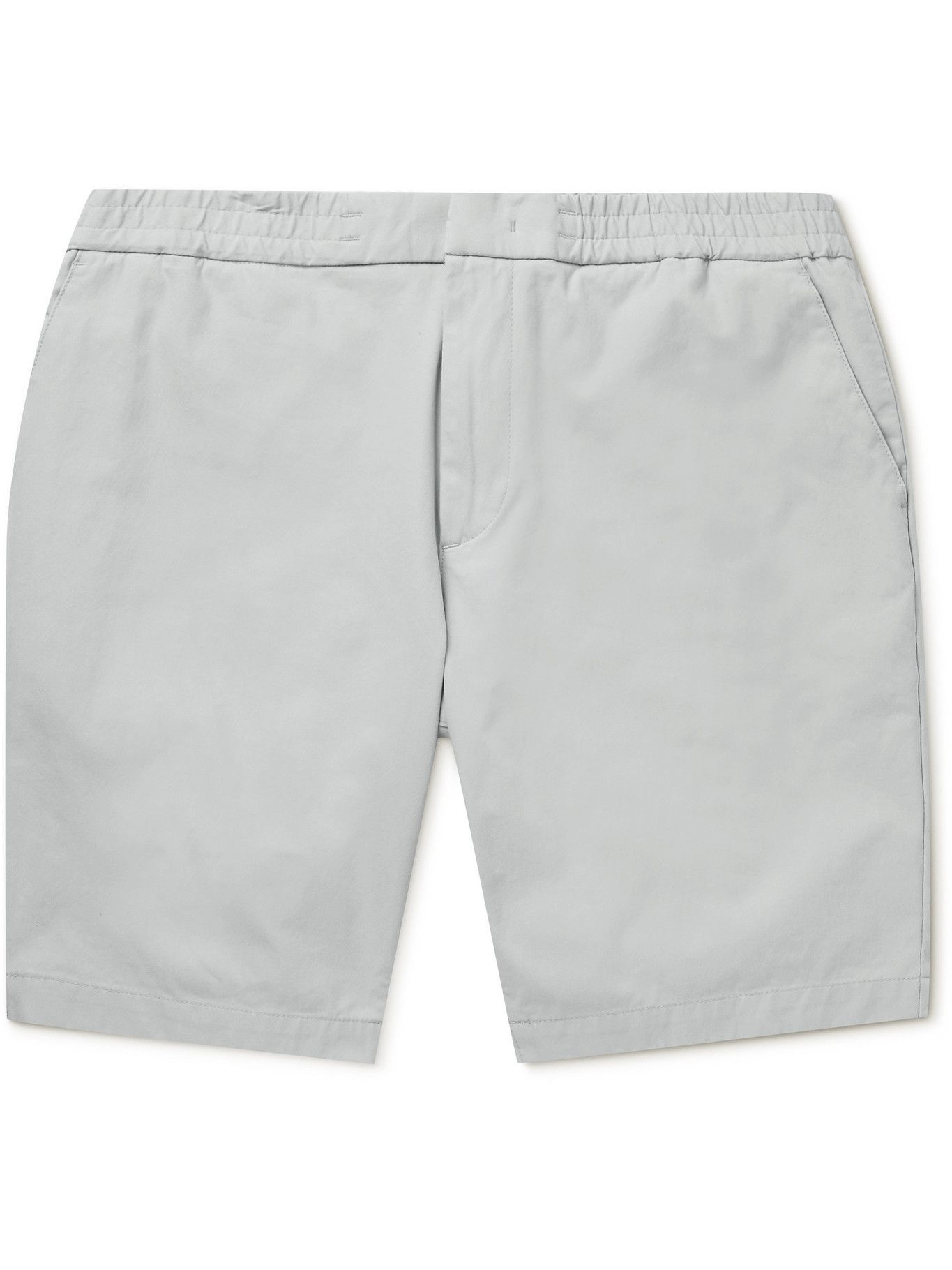 HUGO BOSS - Cotton-Blend Shorts - Gray