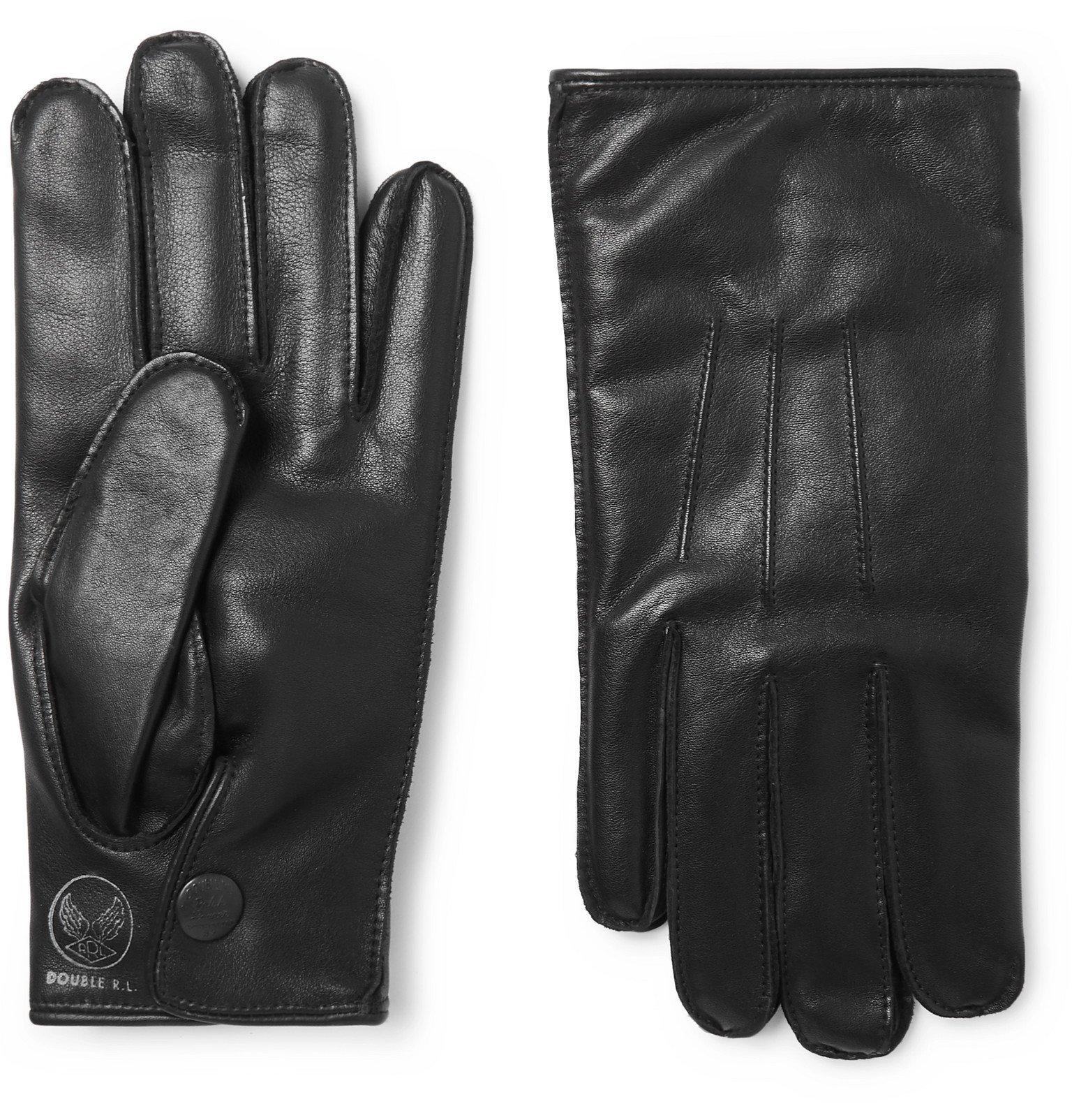 RRL - Cashmere-Lined Leather Gloves - Black