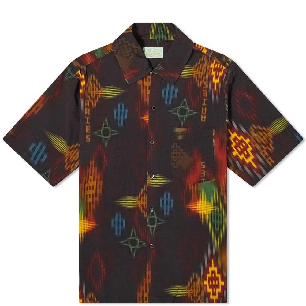 Aries Ikat Print Hawaiian Shirt