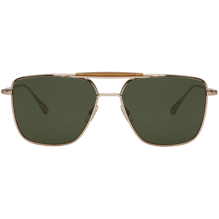 Photo: Garrett Leight Gold Convoy Sunglasses