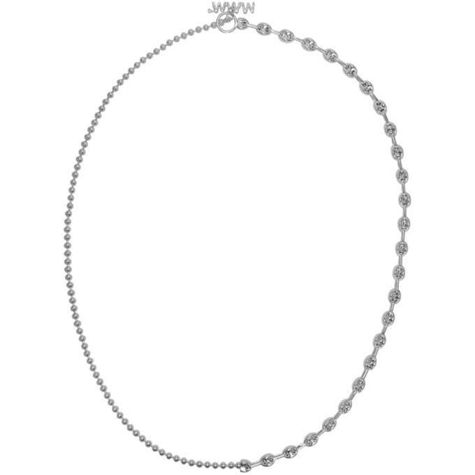 Photo: WWW.WILLSHOTT Silver 2 Link Split Chain Necklace