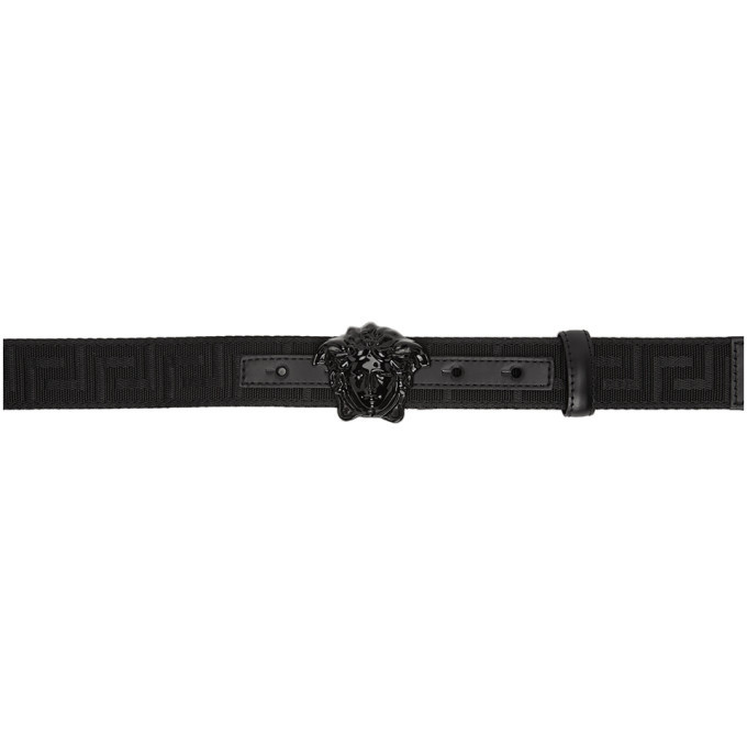 Photo: Versace Black Greek Key Belt