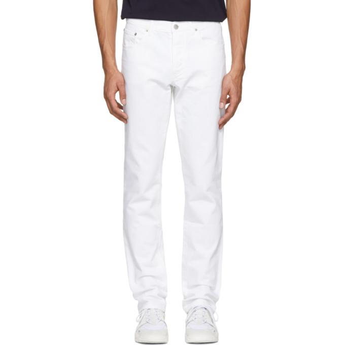 Photo: Maison Kitsune White Overdyed Parisien Jeans