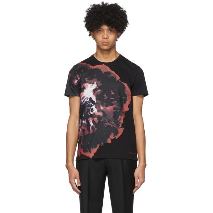 Photo: Alexander McQueen Black Ink Floral T-Shirt