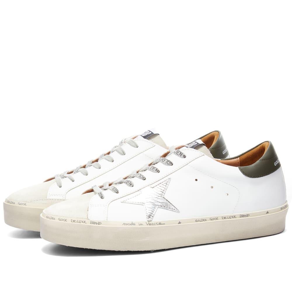 Photo: Golden Goose Hi Star Leather Metal Logo Sneaker