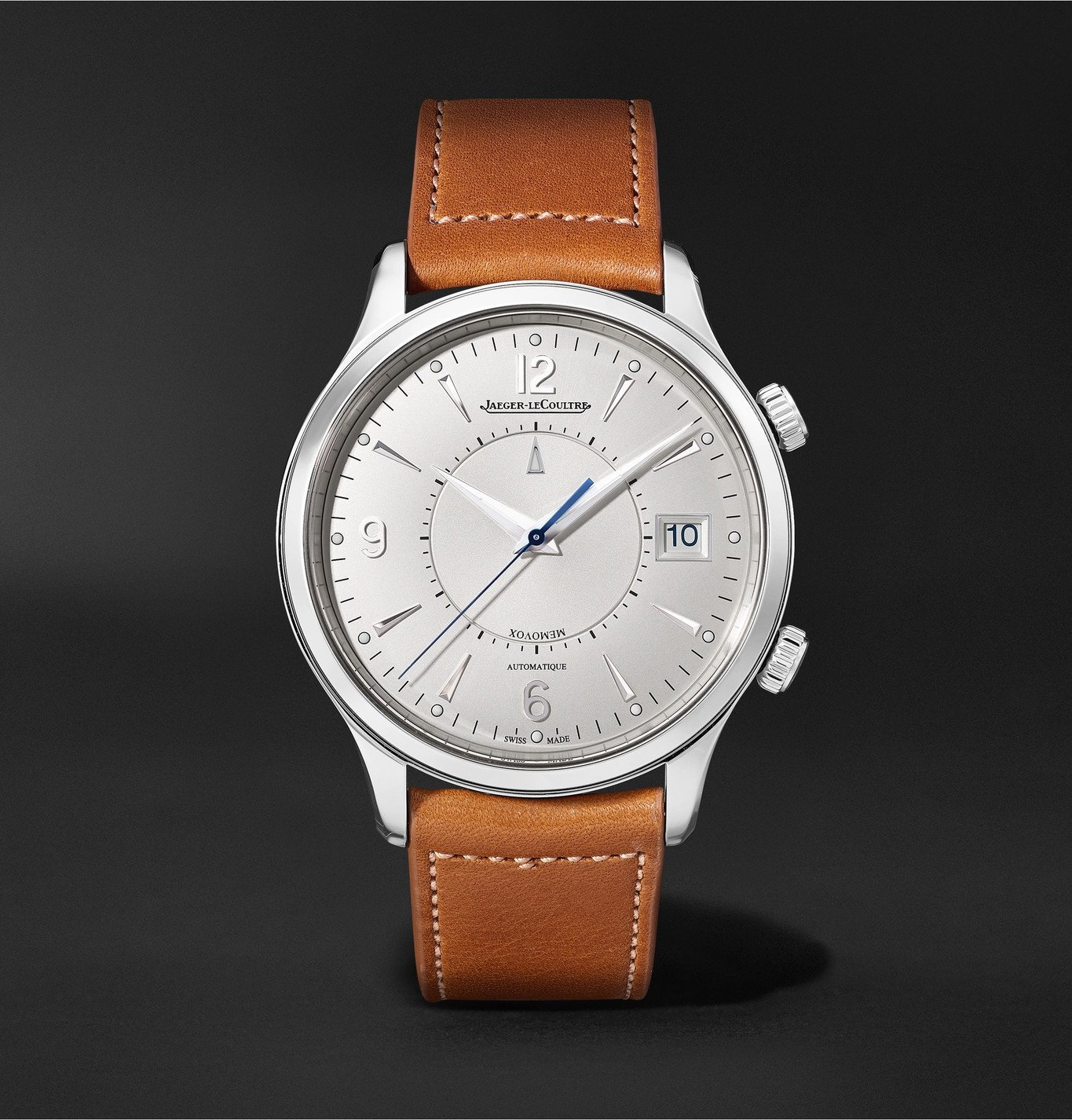 Photo: Jaeger-LeCoultre - Master Control Memovox Automatic 40mm Stainless Steel and Leather Watch, Ref. No. Q4118420 - Silver