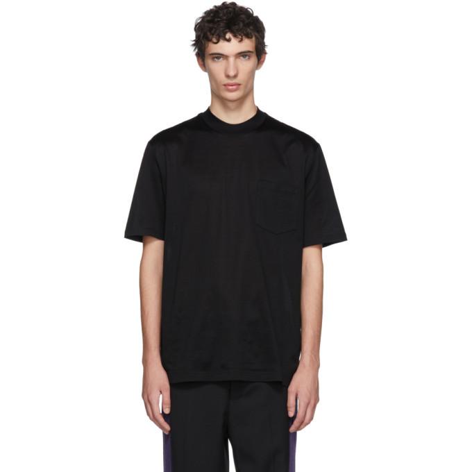 Photo: Lanvin Black High Collar T-Shirt