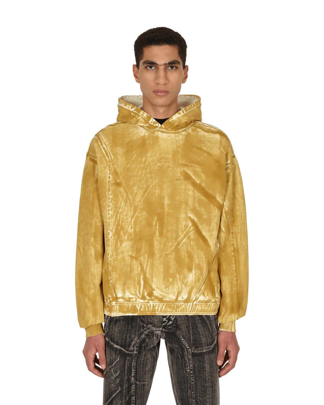 Photo: A Cold Wall Corrosion Hooded Sweatshirt Sulphur