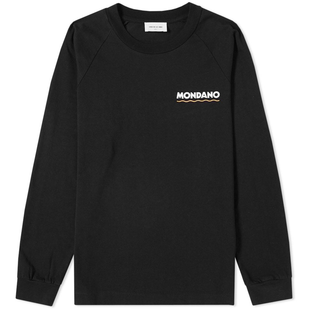 Wood Wood Long Sleeve Han Mondano Tee Black