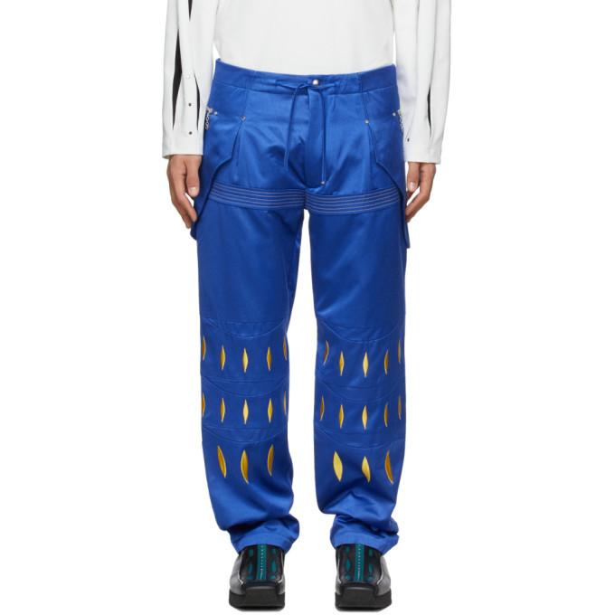 Photo: Kiko Kostadinov Blue Embroidered Arcadia Trousers