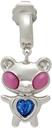 Jiwinaia SSENSE Exclusive Pink & Blue Hybrid Bear Earring