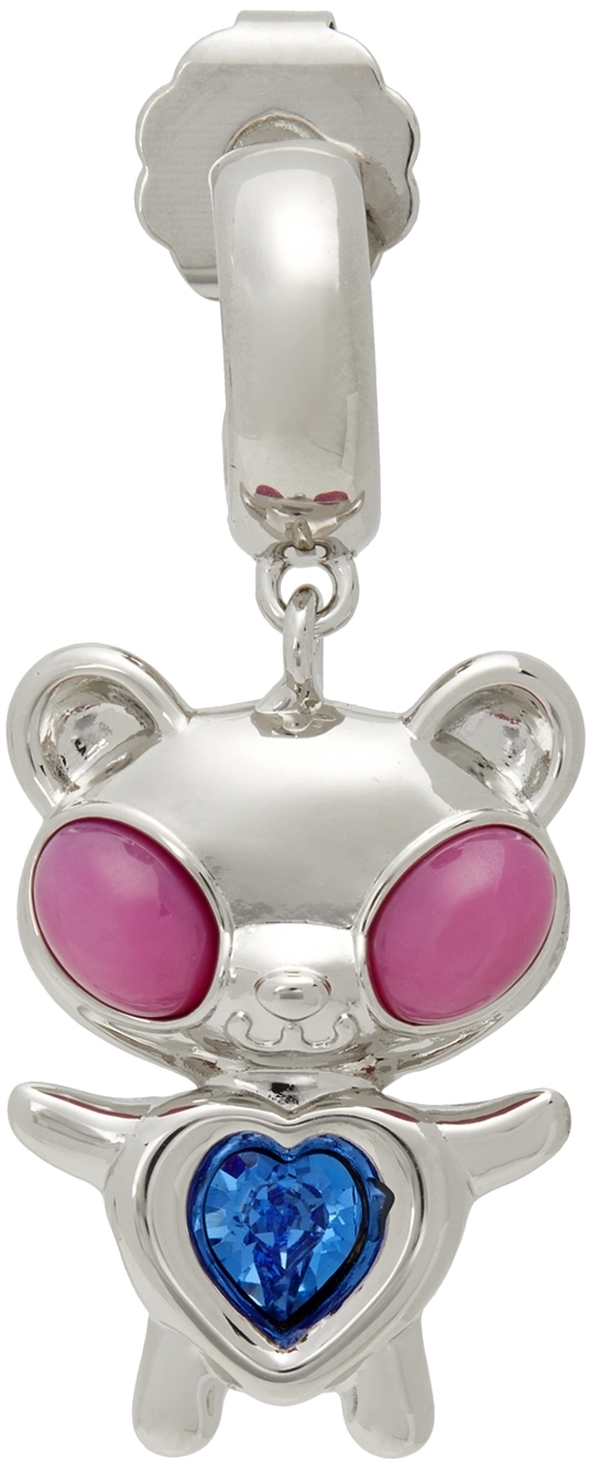 Photo: Jiwinaia SSENSE Exclusive Pink & Blue Hybrid Bear Earring