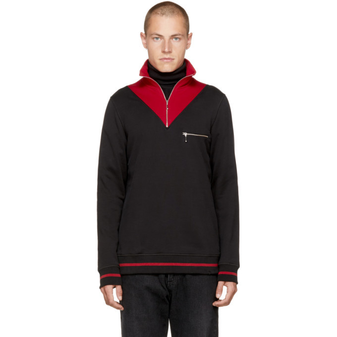 Photo: CMMN SWDN Black and Red Victor Turtleneck