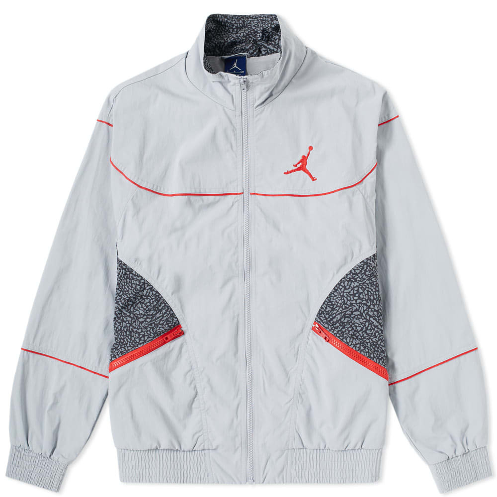 Jordan AJ 3 Woven Vault Jacket Grey