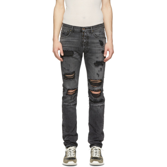 Photo: Unravel Black Distressed Dirty Skinny Jeans