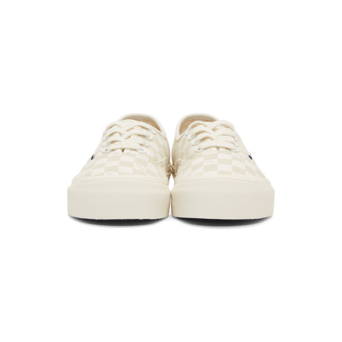 Vans Beige and Off-White Checkerboard OG Authentic Sneakers Vans