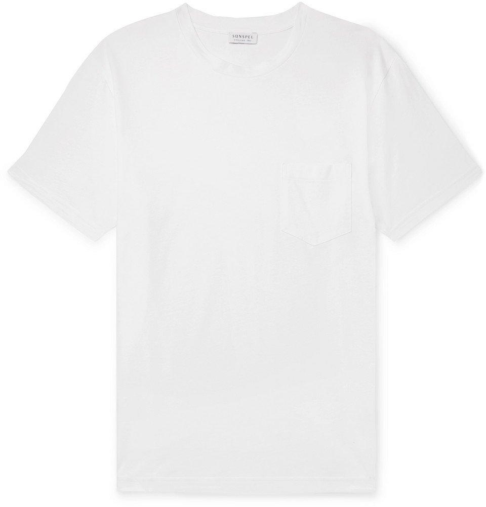 Sunspel - Cotton-Jersey T-Shirt - White