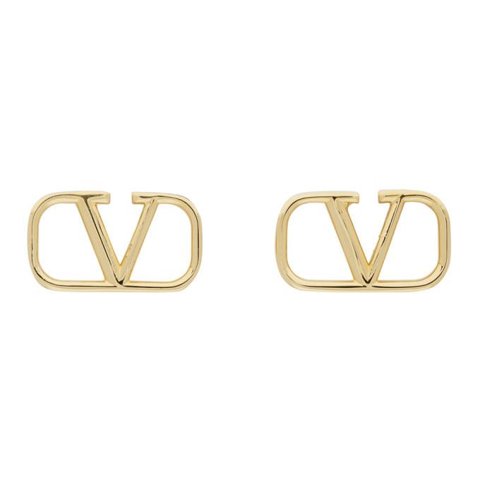 Photo: Valentino Gold Valentino Garavani VLogo Earrings