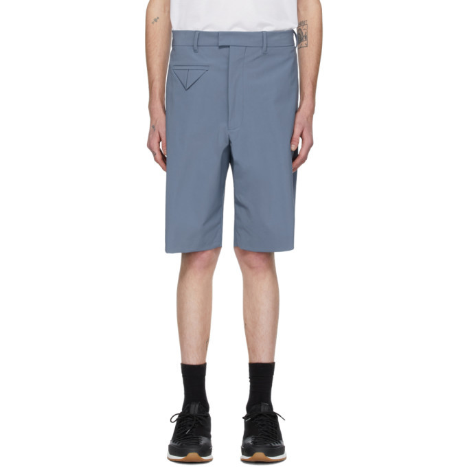 Photo: Bottega Veneta Blue Stretch Nylon Shorts