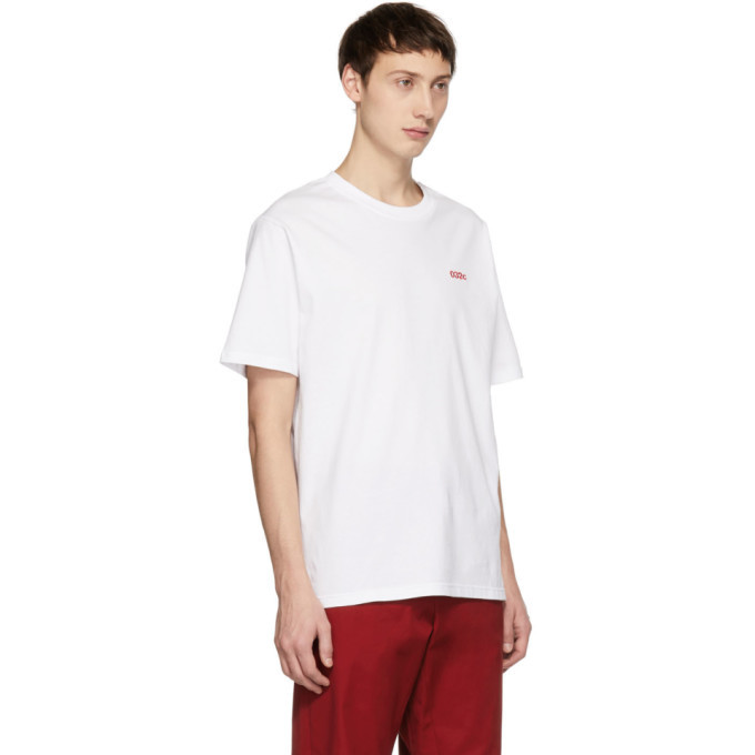 032c White Embroidered Classic T-Shirt