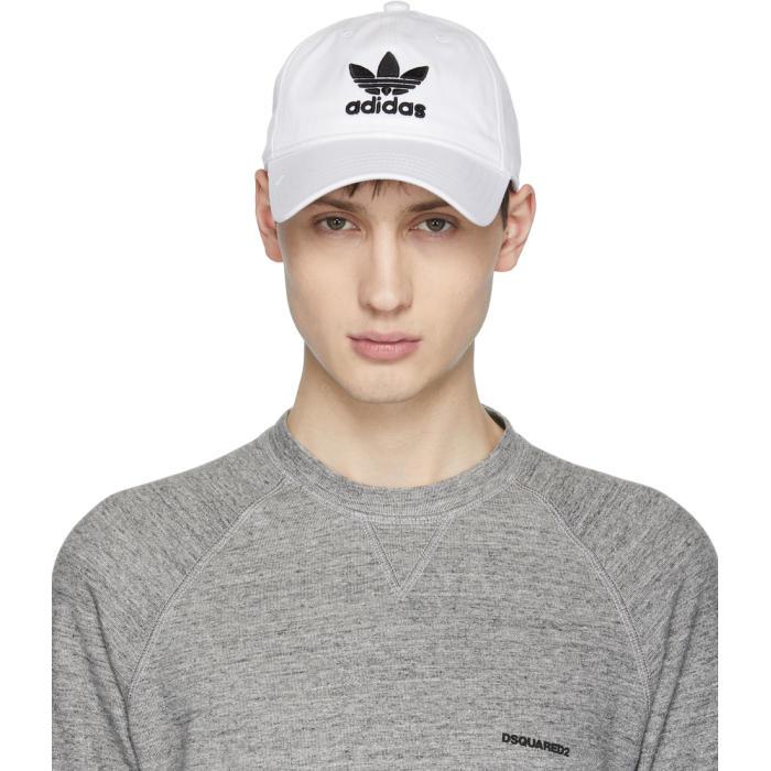 adidas Originals White Trefoil Logo Cap