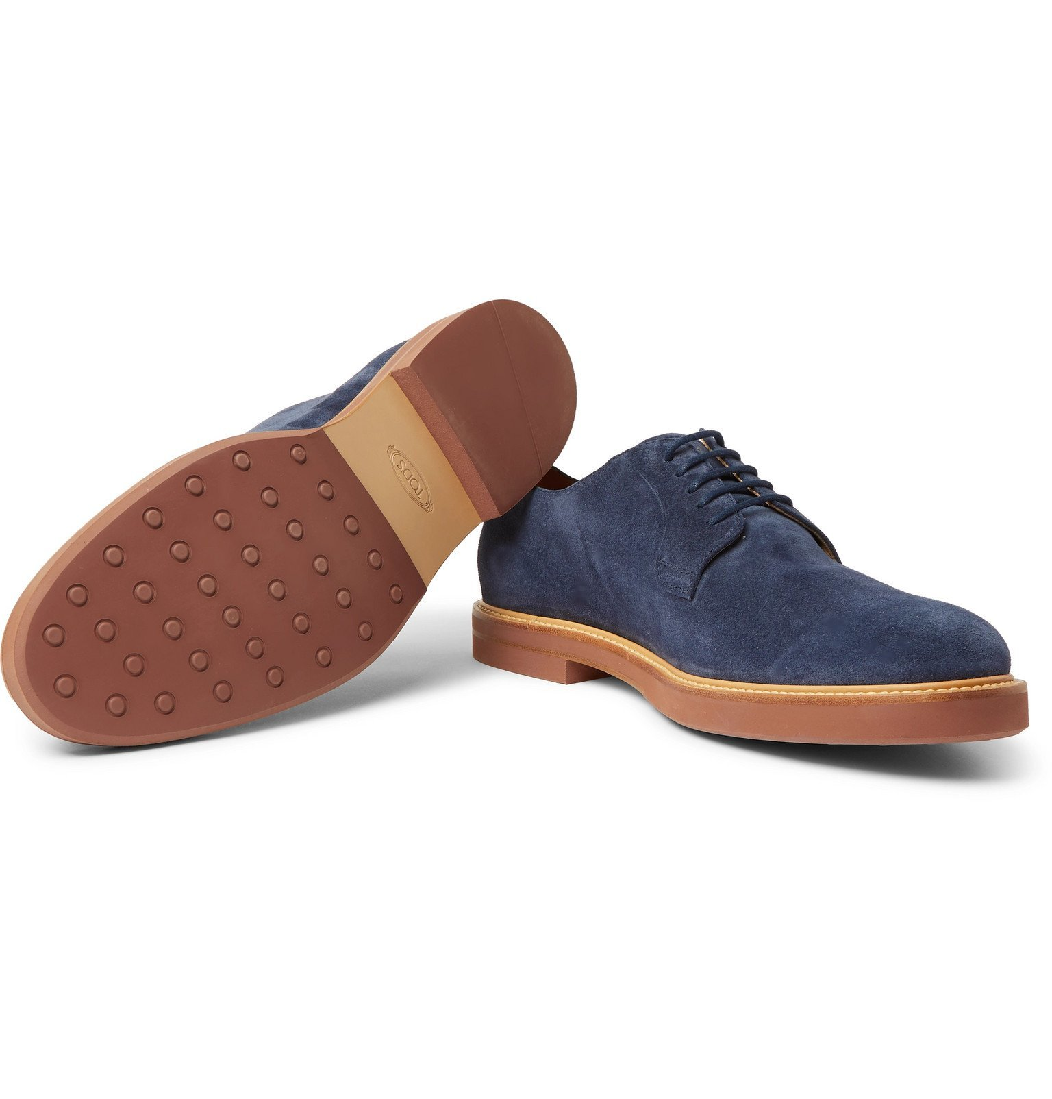 Tod's - Suede Derby Shoes - Blue