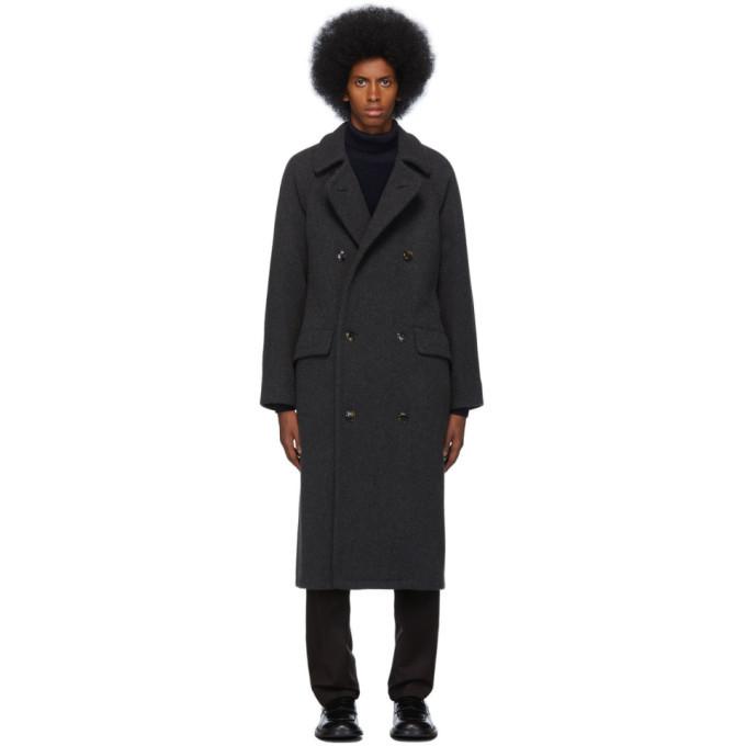 Photo: Giorgio Armani Grey Cashmere Oversized Belted Coat