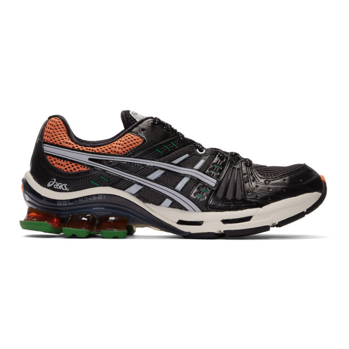 Photo: Asics Black and Orange Gel-Kinsei OG Sneakers