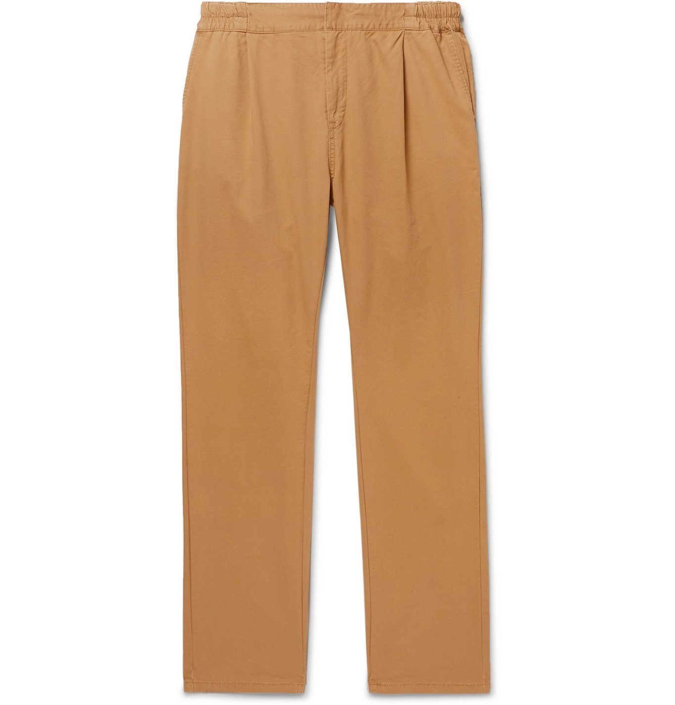 Photo: Remi Relief - Pleated Cotton and Tencel-Blend Twill Chinos - Neutrals