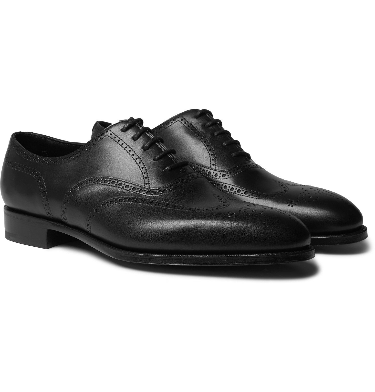 Photo: Edward Green - Inverness Leather Wingtip Brogues - Black