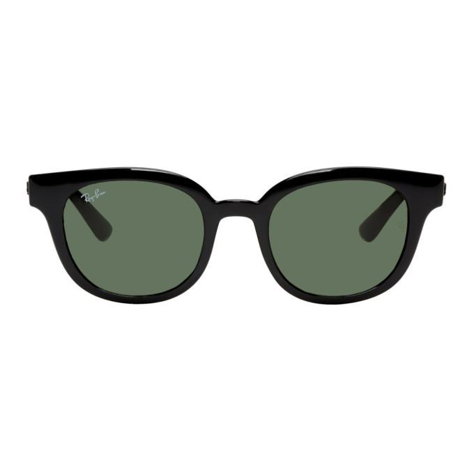 Photo: Ray-Ban Black Round Sunglasses