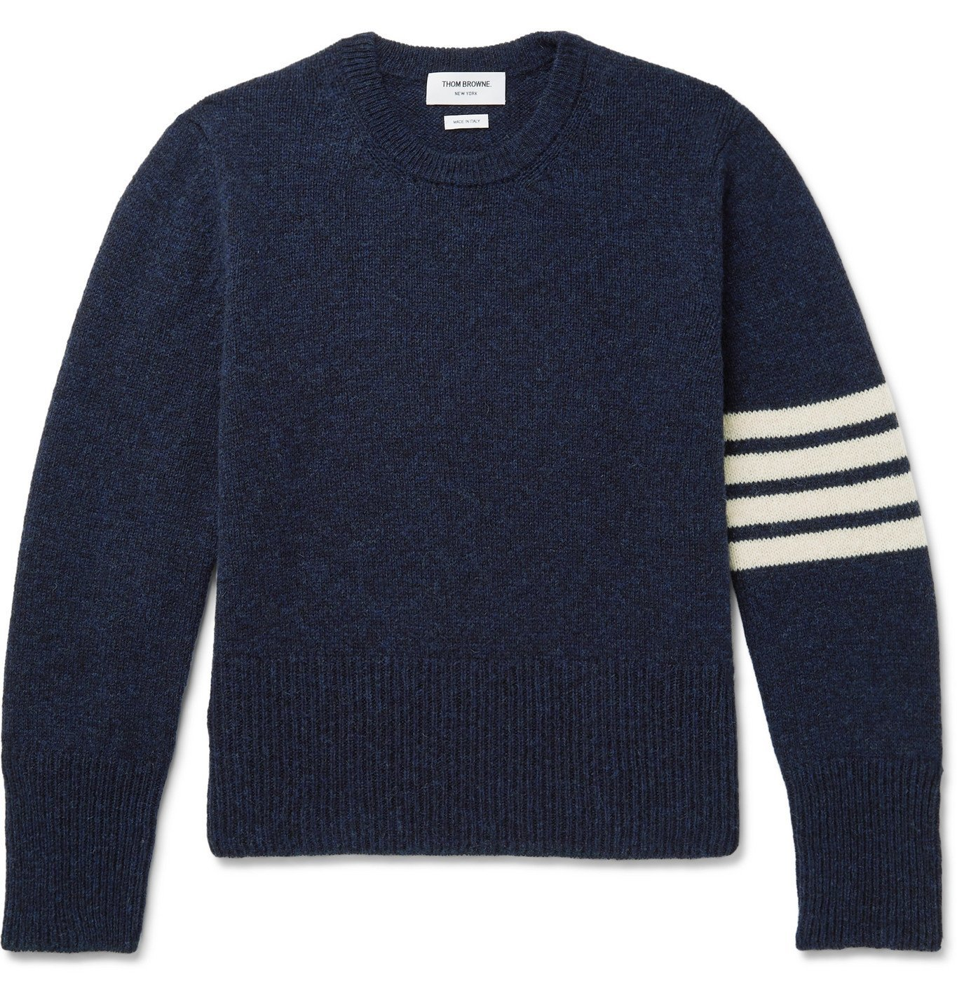 Photo: THOM BROWNE - Striped Wool Sweater - Blue