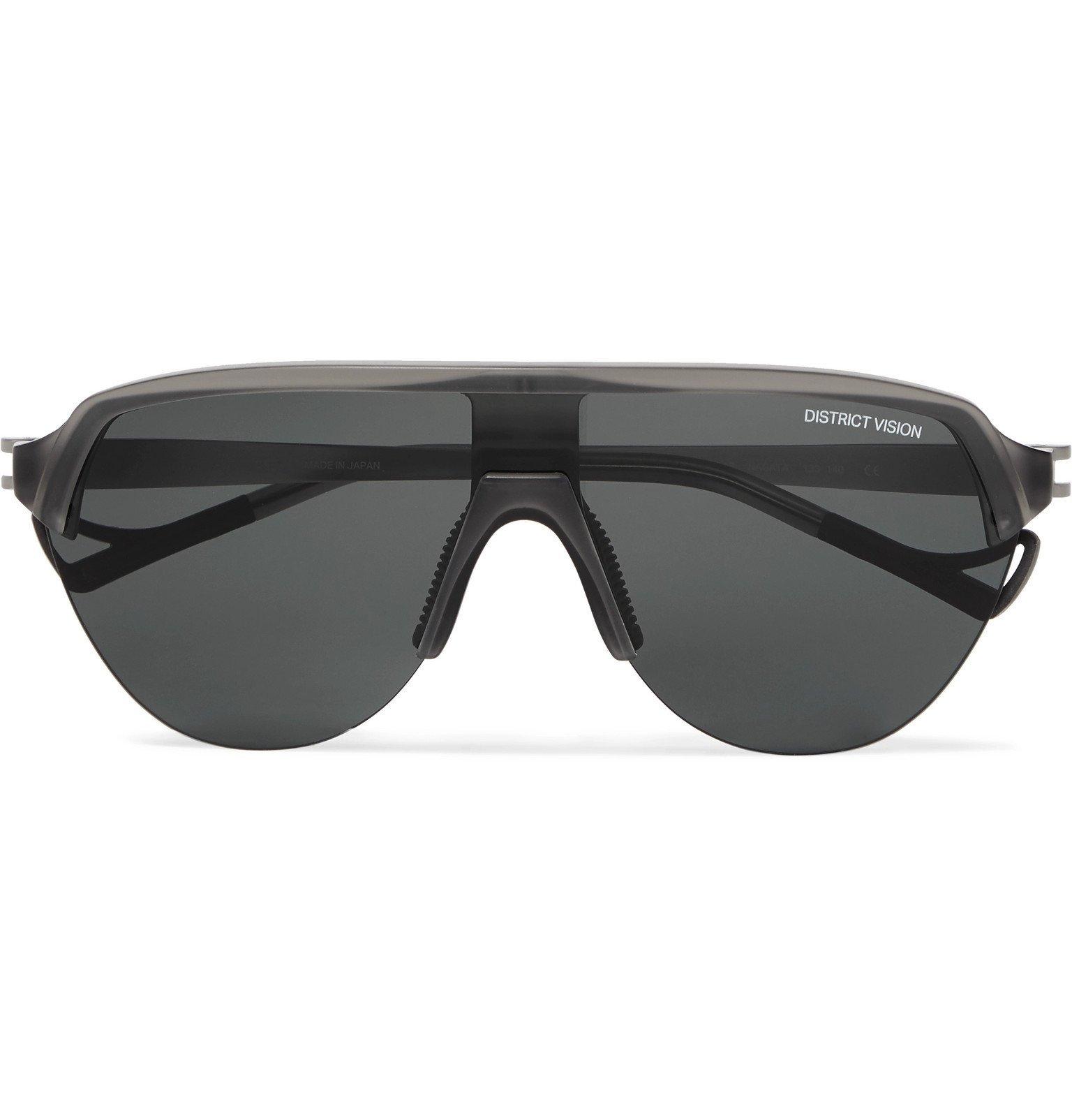 Photo: DISTRICT VISION - Nagata Speed Blade Acetate Sunglasses - Gray