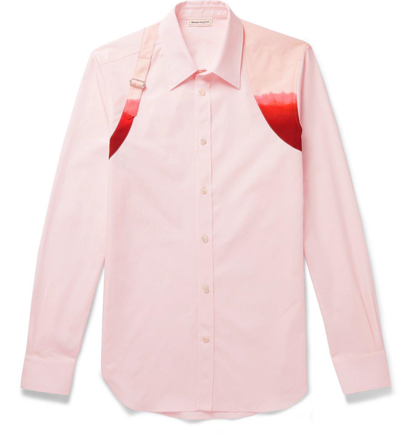 Photo: ALEXANDER MCQUEEN - Harness-Detailed Organic Cotton-Poplin Shirt - Pink