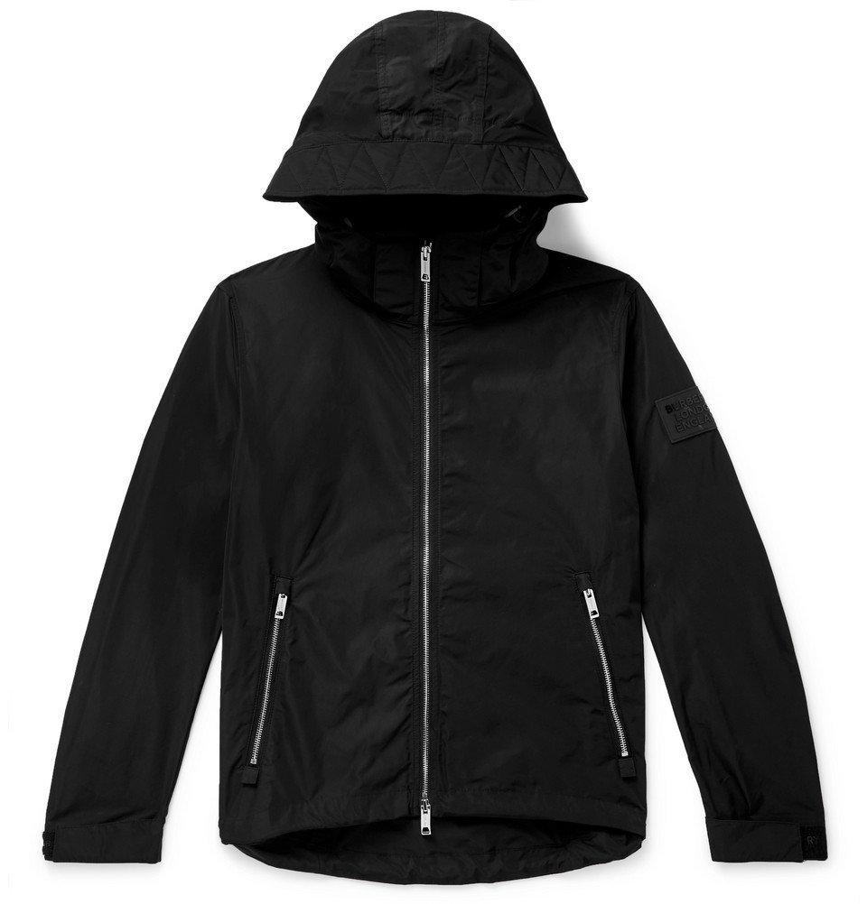 Photo: Burberry - Loqo-Appliquéd Shell Hooded Jacket - Black