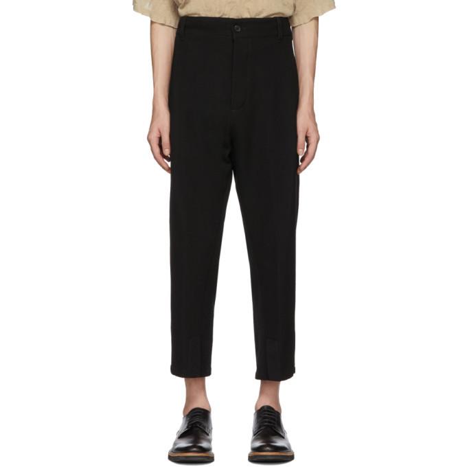 Photo: Ann Demeulemeester Black Wool Fleece Trousers