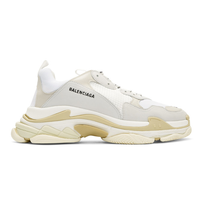 Photo: Balenciaga White Triple S Sneakers