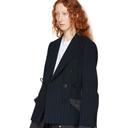 Sacai Navy and Grey Pinstripe Jacket