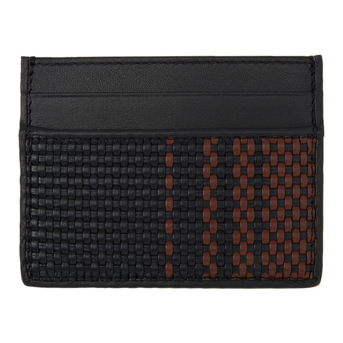 Photo: Ermenegildo Zegna Black and Red Pelletessuta Card Holder