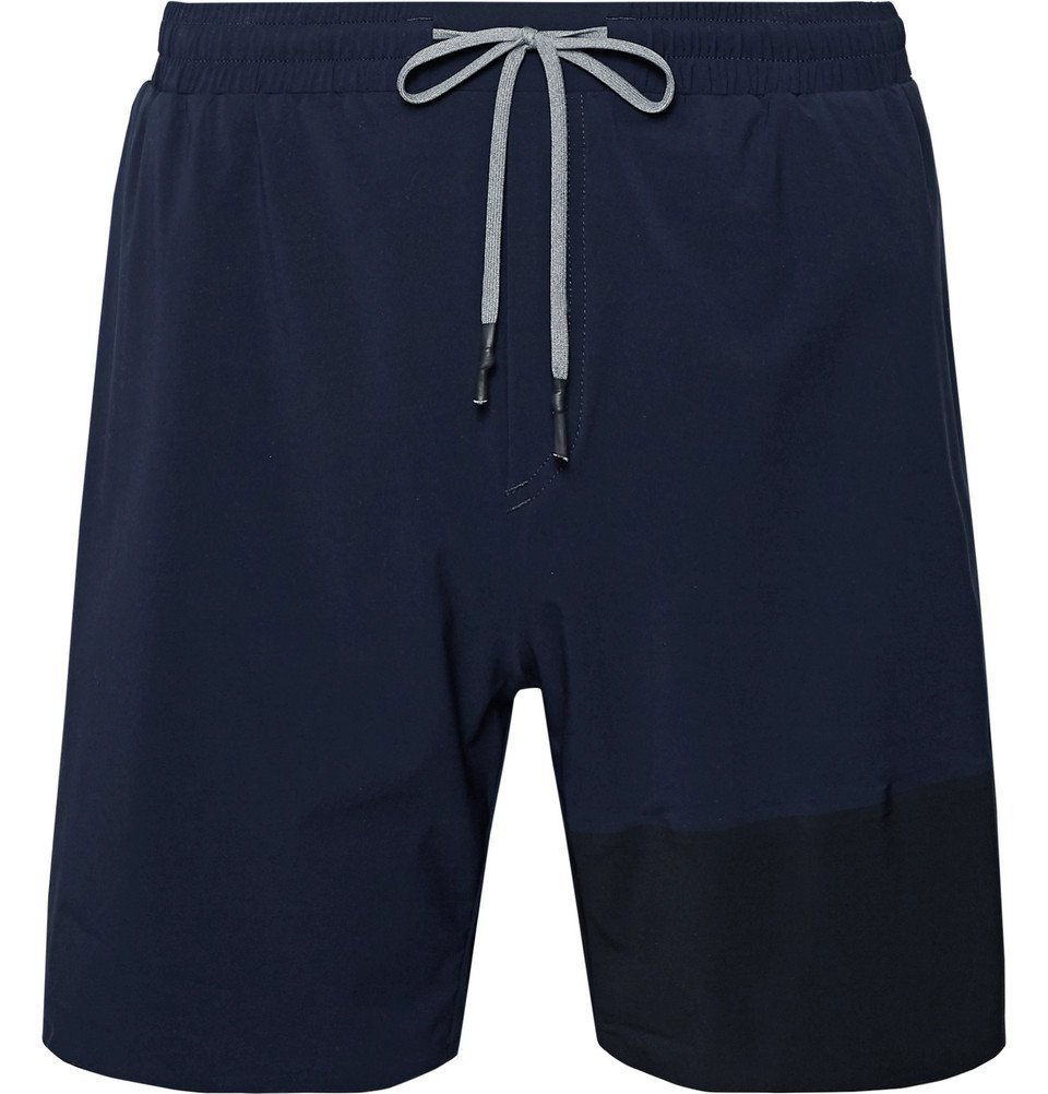 Photo: FALKE Ergonomic Sport System - Challenger Stretch-Shell Running Shorts - Navy