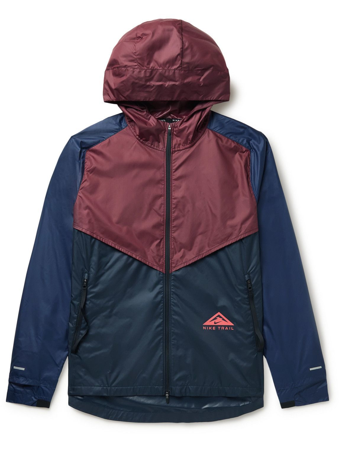 Photo: Nike Running - Windrunner Hooded Two-Tone Ripstop Jacket - Blue