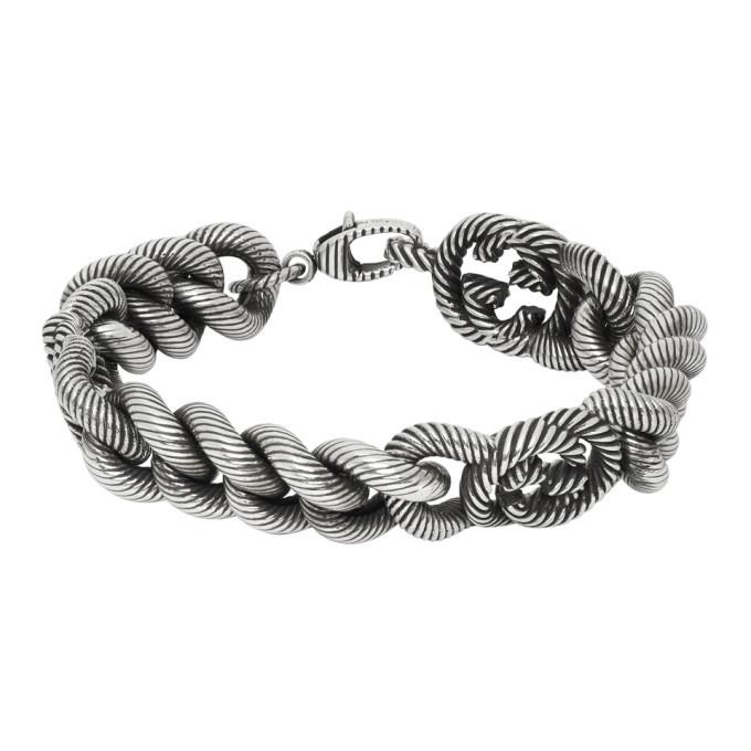 Photo: Gucci Silver Triple Interlocking G Bracelet