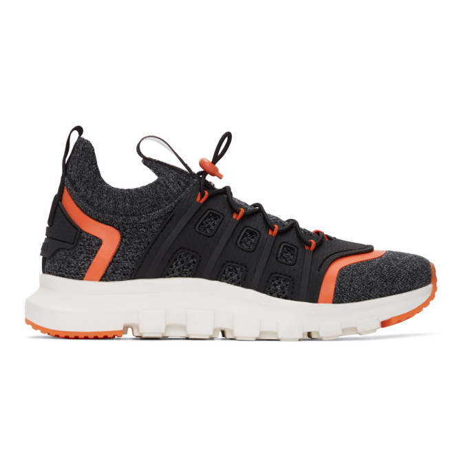 Photo: Z Zegna Grey Techmerino Sock 2.0 Sneakers