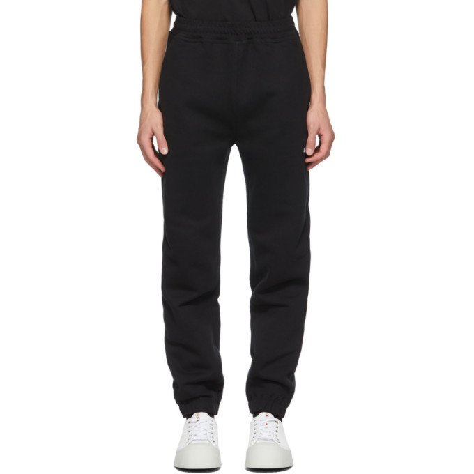 Photo: MSGM Black Logo Jogger Lounge Pants