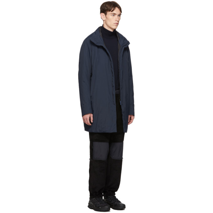 Veilance Navy Insulated Euler Coat
