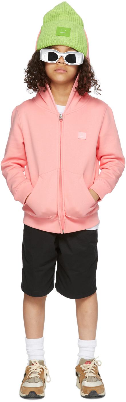 Photo: Acne Studios Kids Pink Patch Hoodie