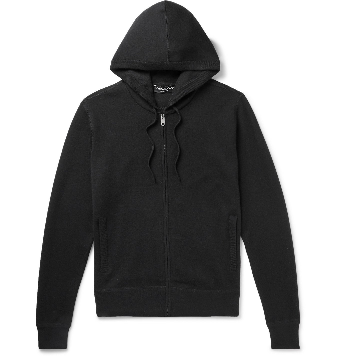 Photo: Dolce & Gabbana - Cashmere Zip-Up Hoodie - Black